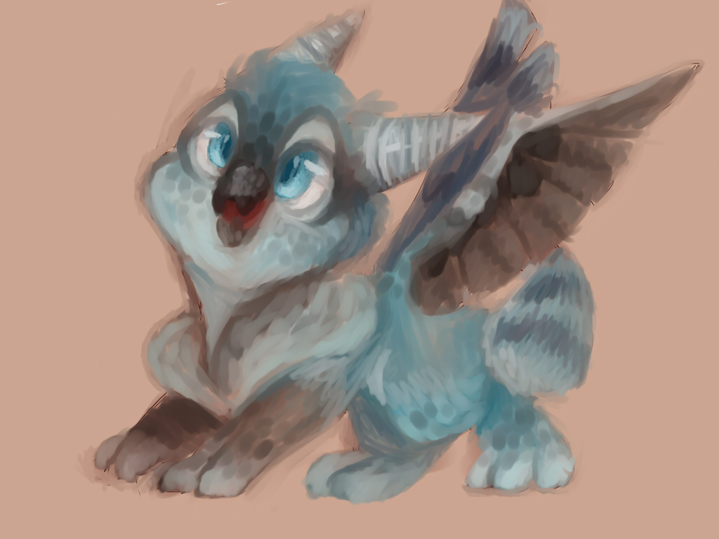 Blue jay Dragon type thing..... by BananaConductor