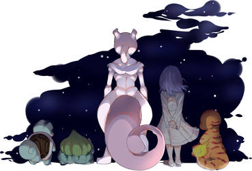 Don't cry Mewtwo, You should be happy. by BananaConductor