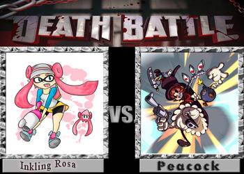 Death Battle Inkling Rosa vs Peacock by carlos52302