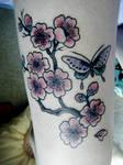 cherry blossom tattoo photo 2