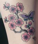 cherry blossom tat all healed