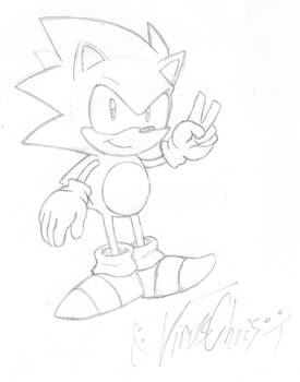 Sonic Sketch - [Sonic CD Style] by VirusChris
