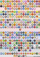 Pokemon Eggs - Sprites by Kindsoulnyan