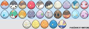 Pokemon Eggs - Sprites (Gen VI)