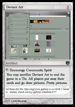 DA Magic Card by Killallsilence
