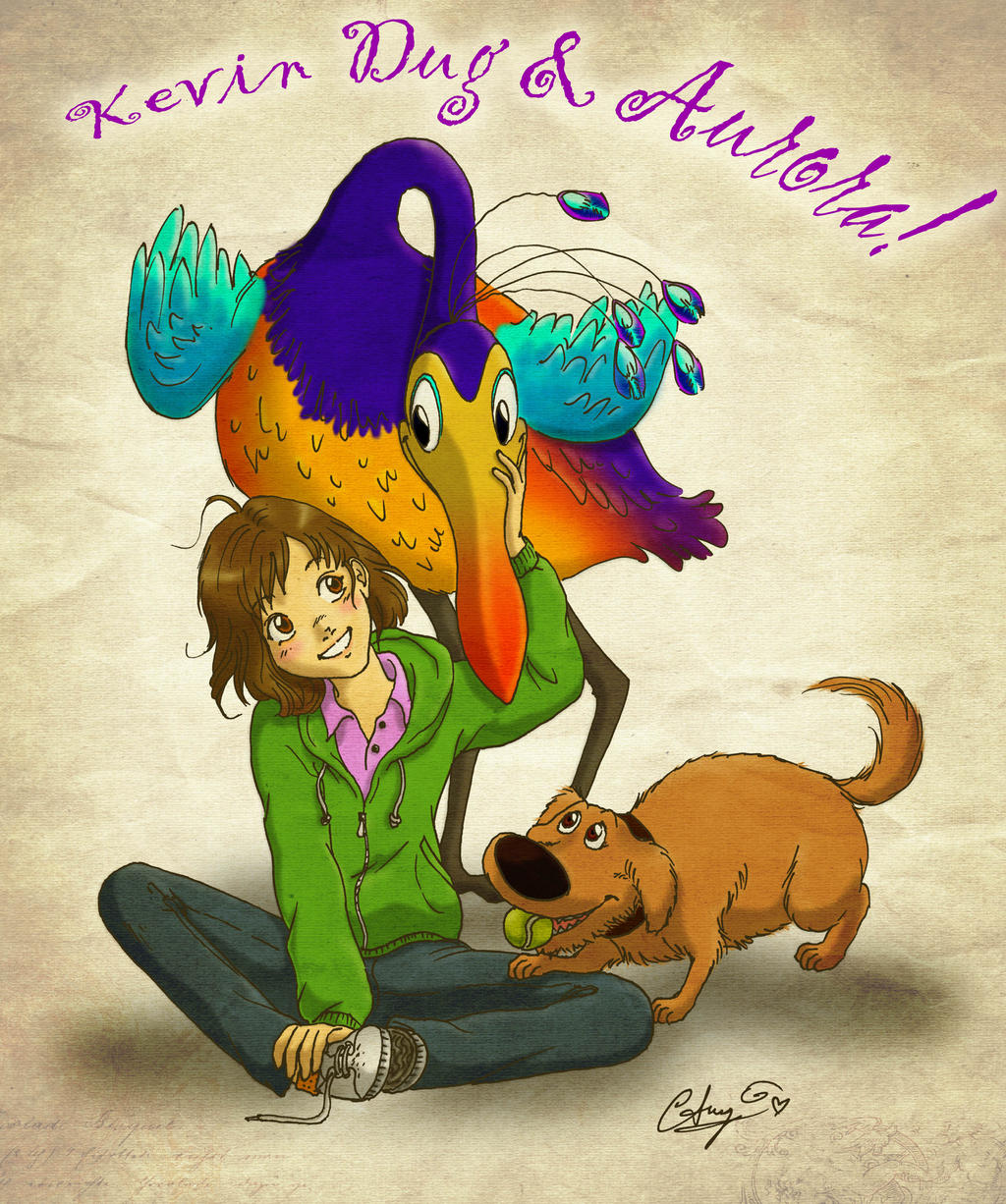 Kevin, Dug and...Aurora by Pulcinetto