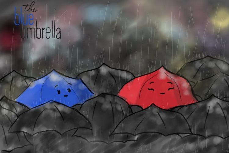 The Blue Umbrella By Cami CB