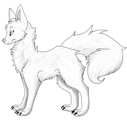 wolf front poses - 500×477