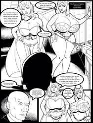 Scarlet Witch vs Marvel: Professor X by sampleguy