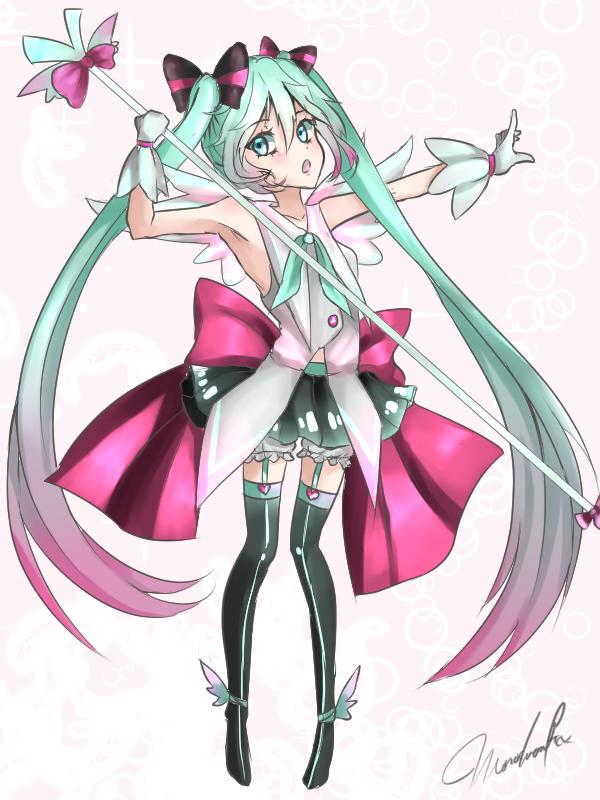 Magical Girl Miku! by Monochromaticx