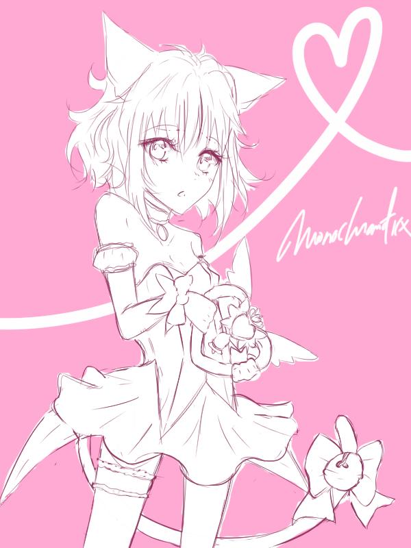 Mew Ichigo (sketch) by Monochromaticx