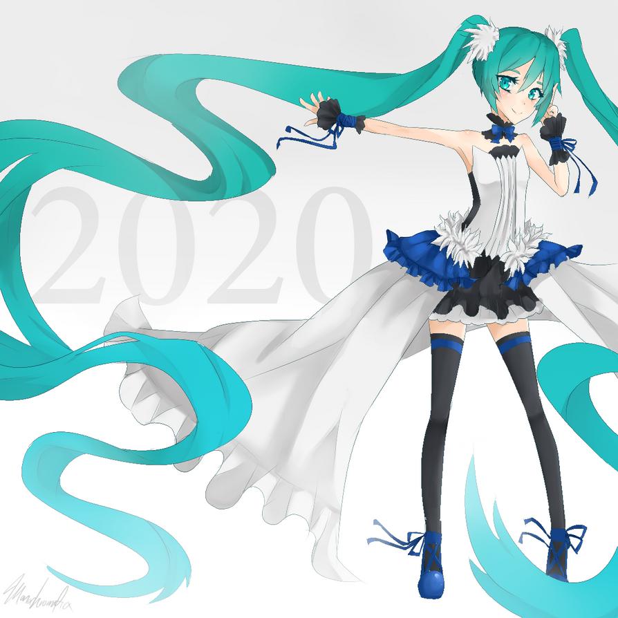 2020 Dragon Miku by Monochromaticx