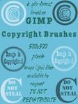 GIMP Copyright Brushes
