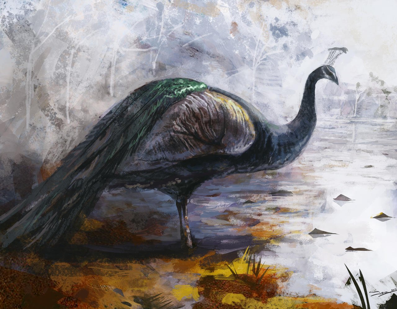 Peacock Speed Paint by Robjenx