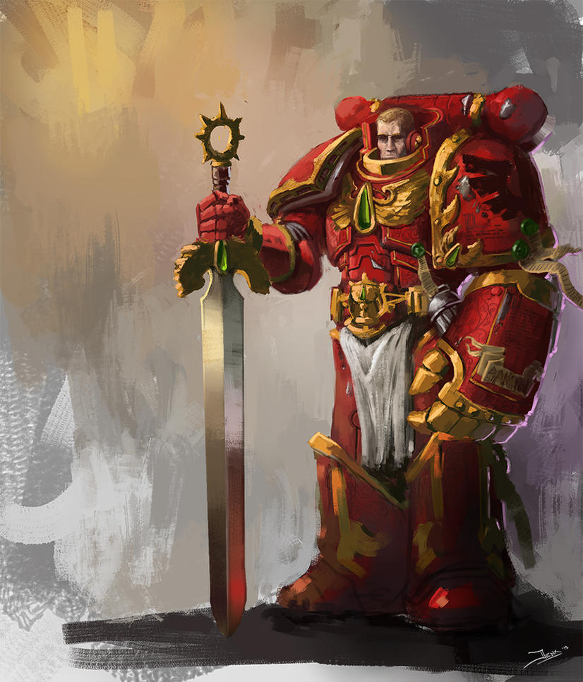 Blood Angels Sergeant by Robjenx