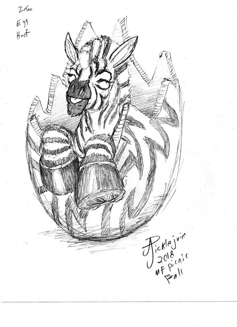 Zebra-egg-hoof by picklejuice13