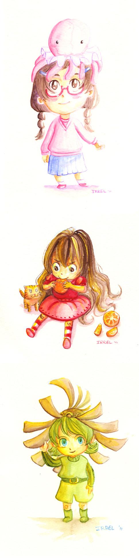 Cuties - Watercolor by Irrel