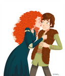 Hiccup and Merida