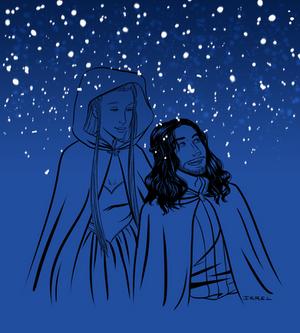 Snow - Kili and Tauriel