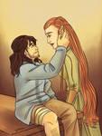 Healing - Tauriel and Kili