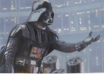 Star Wars Darth Vader Sketch Card by TRENTBRUCE