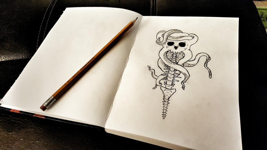 Skull Octopus Tattoo Sketch by snosnke0321