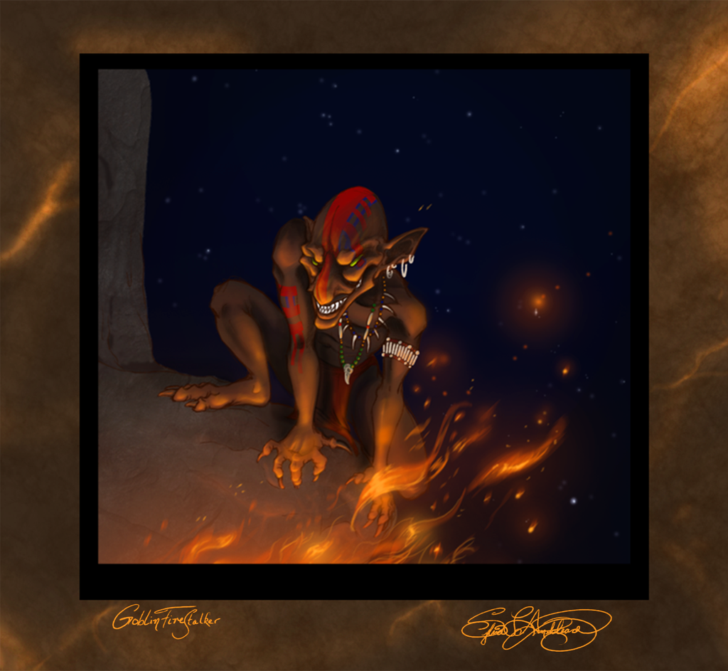 Goblin Fire Stalker by ElysianImagery