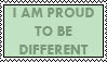 I am Different Stamp by Marahuta