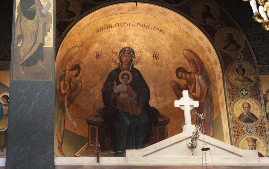 Greek Orthodox Church Interior by Marahuta