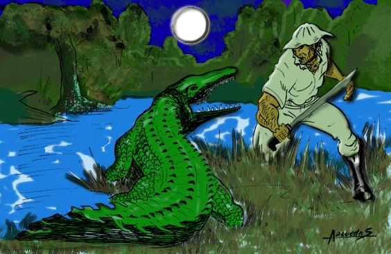 El Sabanero y el lagarto by Bimago
