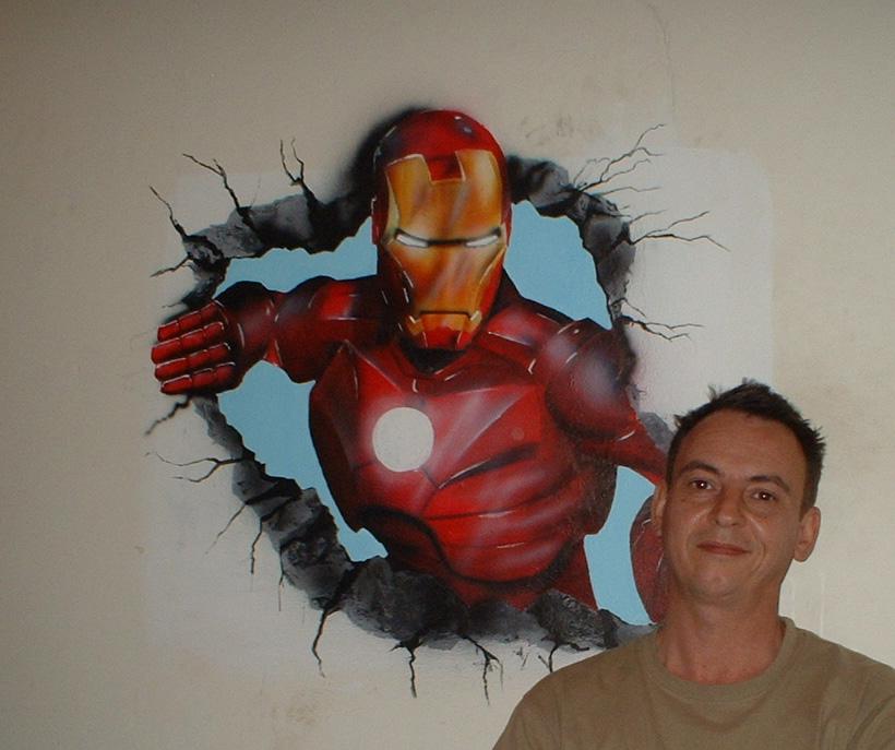 ironman mural by johncharles01 on deviantart new 3d iron man mural wallpaper full wall murals print