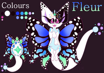 Egg Adoptable (Batch 2) Fleur Ref Sheet by Ivy-Frost18