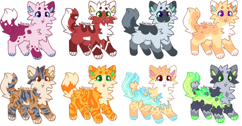 Adoptables Batch #1 [OPEN] by Ivy-Frost18