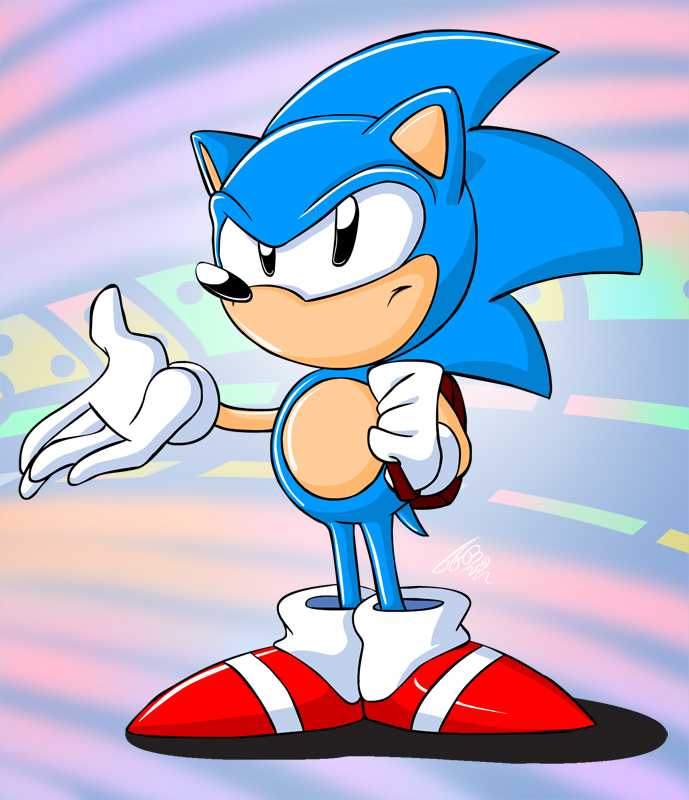 how to draw sonic cd sonic