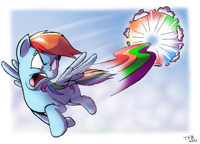Rainbow Dashing (Paintchat) by Tobibrocki