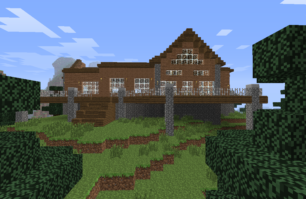 Minecraft Log Cabin by Hotah Wahya. Minecraft Log Cabin by Hotah Wahya on DeviantArt