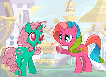 Pinwheel and Fizzy by CheshireMoon7