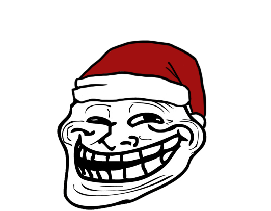 Christmas troll face by w4terboy