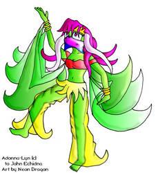 Adonna-Lyn dances
