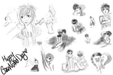 Gaanaru sketch dump by TEENTITANSGO123