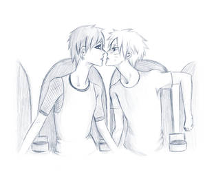 First Kiss GaaNaru by TEENTITANSGO123
