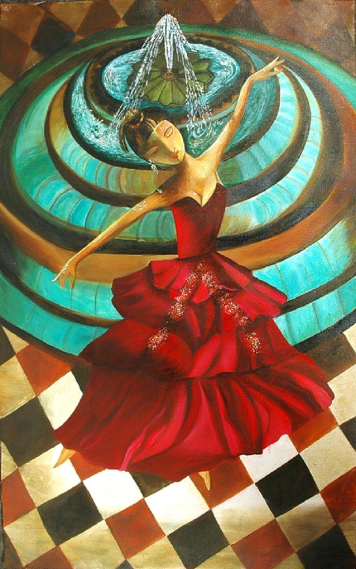 Dancing doll original acrylic painting for sale by for Original artwork for sale online