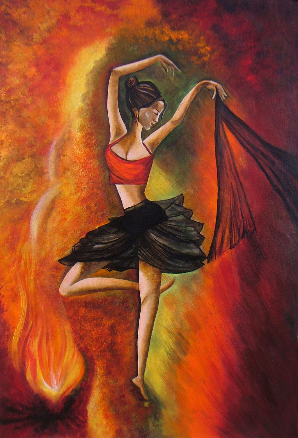 Sizzling dance original acrylic painting sale by for Canvas art on sale