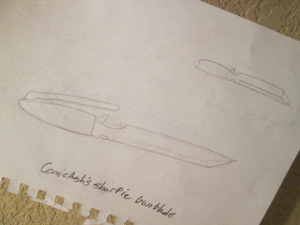 Comicash's Sharpie gunblade by pikafoomoo