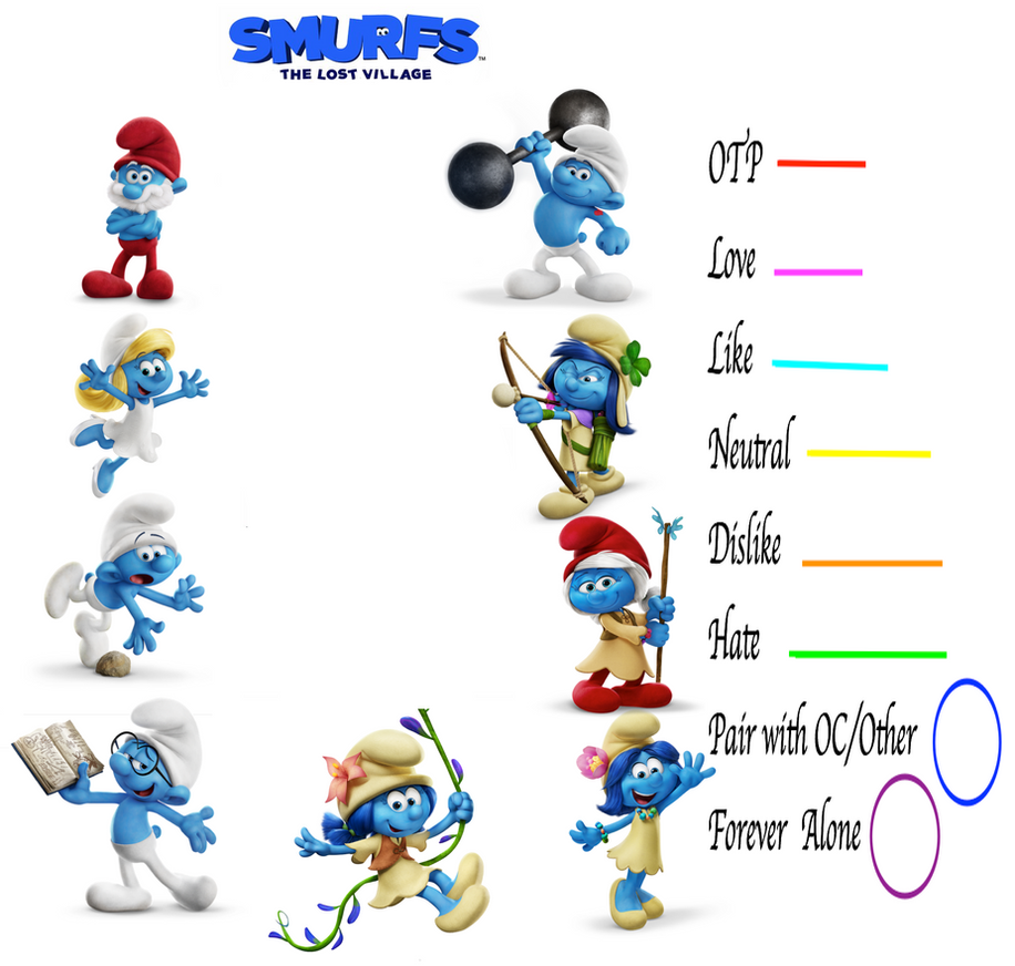 Smurfs: The Lost Village Couples MEME By GuiFFI On DeviantArt