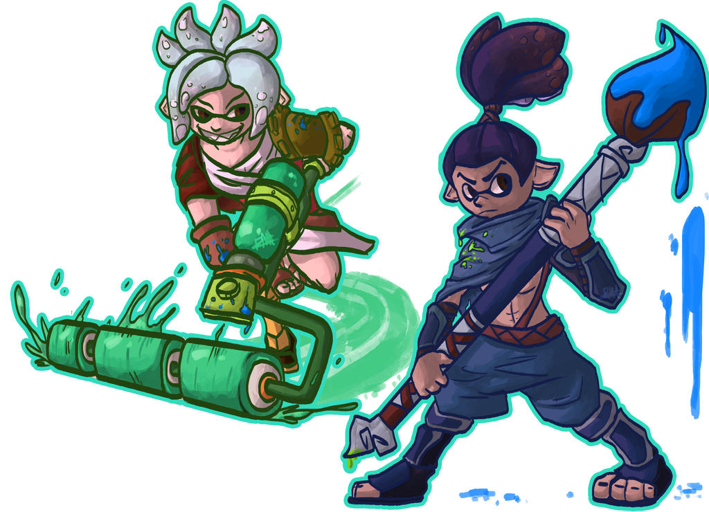Riven and Yasuo inklings! by paristhedragon