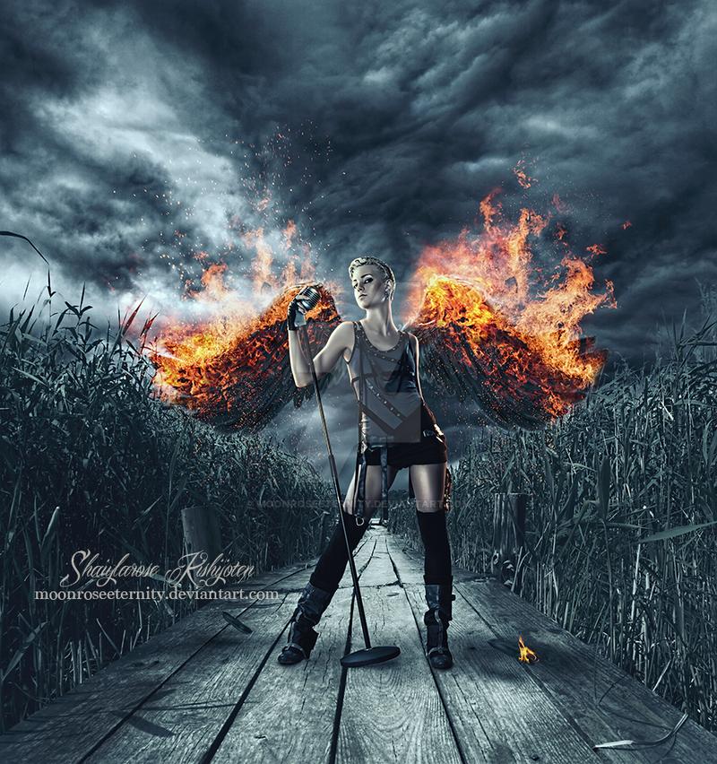 ~ Fiery Wings ~ by MoonRoseEternity