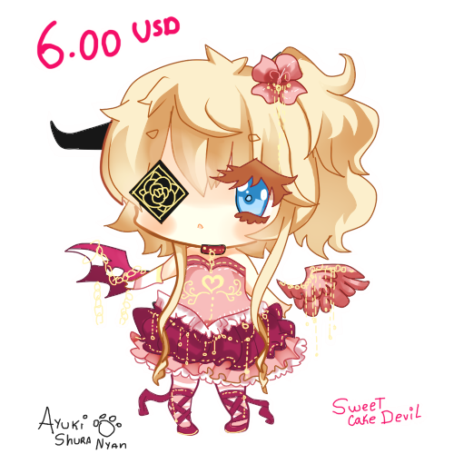 Solo adopt : Sweet Cake Devil -CLOSED- by Ayuki-Shura-Nyan