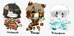 Folklore of Japan - Adoptables set1 - CLOSED