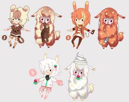 Sweet Alpaca boys - CLOSED by Ayuki-Shura-Nyan